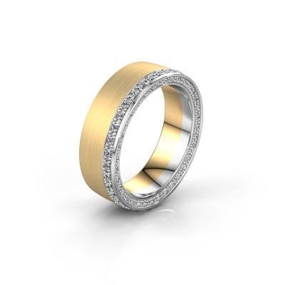 Wedding ring WH2224L26C8 585 gold zirconia 1.3 mm x2.2 mm