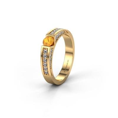 Trouwring WH2098L 375 goud citrien ±4x3 mm