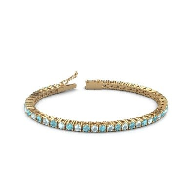 Tennisarmband Jenny 375 goud blauw topaas 3.5 mm