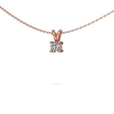 Foto van Ketting Eline 375 rosé goud diamant 0.25 crt