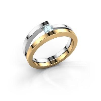 Ring Sandy 585 goud aquamarijn 3.4 mm