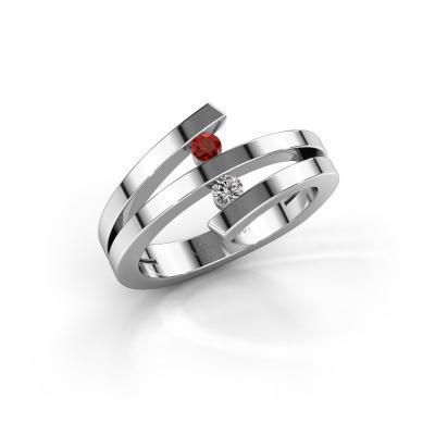 Bild von Ring Synthia 925 Silber Granat 2.5 mm