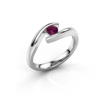 Picture of Engagement ring Alaina 925 silver rhodolite 4 mm