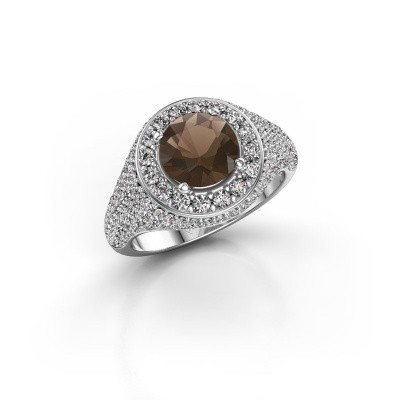 Picture of Ring Dayle 585 white gold smokey quartz 7 mm