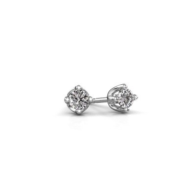 Picture of Stud earrings Briana 950 platinum zirconia 3.7 mm