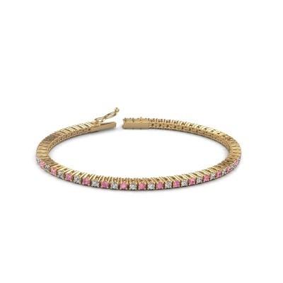Foto van Tennisarmband Karisma 375 goud roze saffier 2.4 mm
