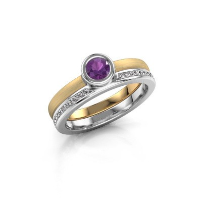 Picture of Ring Cara 585 gold amethyst 4 mm