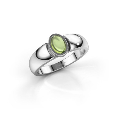 Ring Tonneke 925 silver peridot 6x4 mm