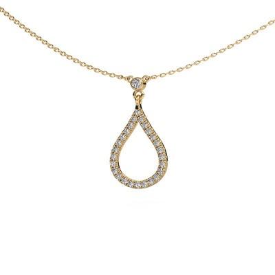 Ketting Alona 375 goud diamant 0.29 crt