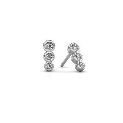 Foto van Oorbellen Felica 925 zilver diamant 0.33 crt