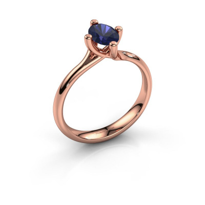 Engagement ring Dewi Oval 585 rose gold sapphire 7x5 mm