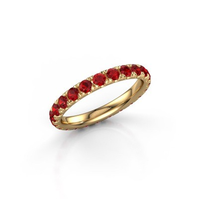 Foto van Ring Jackie 2.5 375 goud robijn 2.5 mm