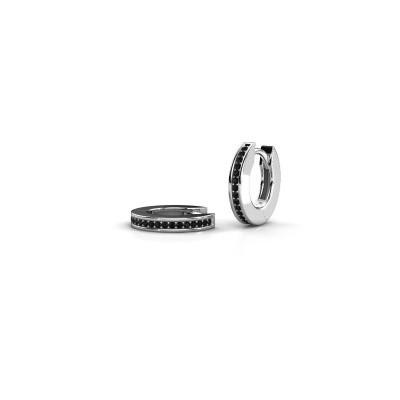 Foto van Creolen Renee 1 12mm 585 witgoud zwarte diamant 0.30 crt