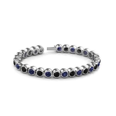 Foto van Tennisarmband Bianca 5 mm 585 witgoud zwarte diamant 8.40 crt