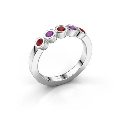 Ring Nova 585 white gold ruby 3 mm