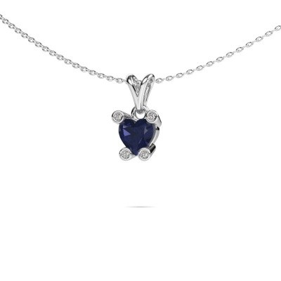 Picture of Necklace Cornelia Heart 950 platinum sapphire 6 mm