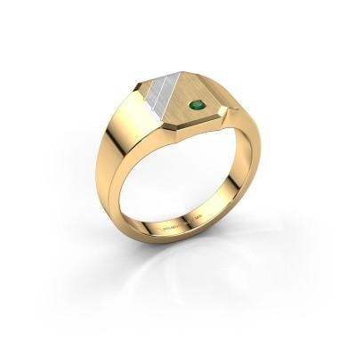 Foto van Zegelring Patrick 1 585 goud smaragd 2 mm