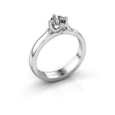 Verlovingsring Eva 585 witgoud diamant 0.40 crt