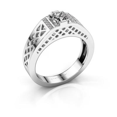 Herrenring Jonathan 585 Weißgold Diamant 0.834 crt
