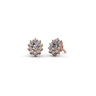 Foto van Oorbellen Leesa 375 rosé goud lab-grown diamant 1.60 crt