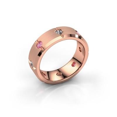 Herren ring Irwin 375 Roségold Pink Saphir 2.7 mm