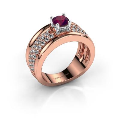 Foto van Ring Alicia 585 rosé goud rhodoliet 5 mm