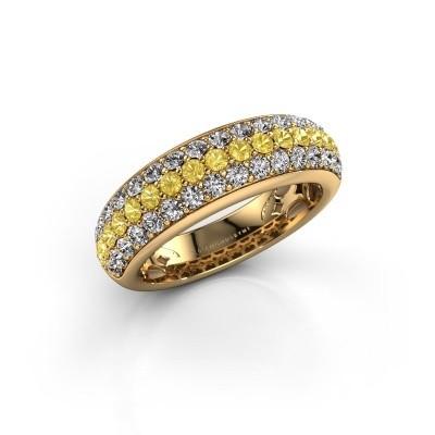 Foto van Ring Emely 8 375 goud gele saffier 1.9 mm