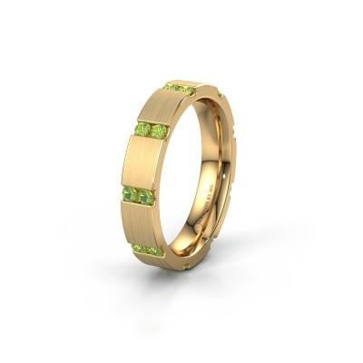 Weddings ring WH2132L14BM 375 gold peridot ±4x2.2 mm