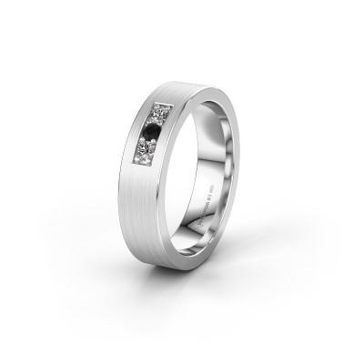 Wedding ring WH0110L15BM 950 platinum black diamond ±5x2 mm