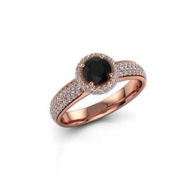 Engagement ring Mildred 375 rose gold black diamond 1.411 crt