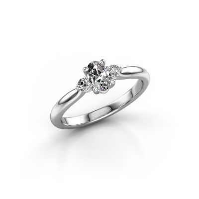Picture of Engagement ring Lieselot OVL 585 white gold diamond 0.76 crt