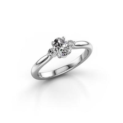Bild von Verlobungsring Lieselot OVL 585 Weißgold Diamant 0.76 crt