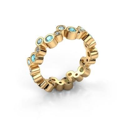 Bild von Ring Tessa 585 Gold Blau Topas 2.5 mm