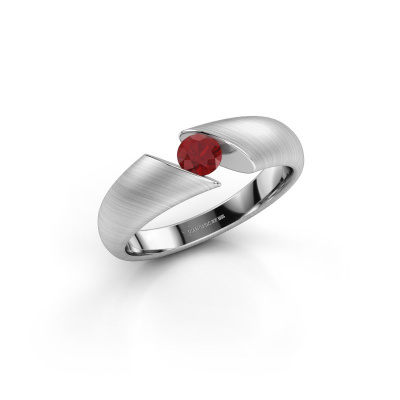 Picture of Engagement ring Hojalien 1 925 silver ruby 4 mm