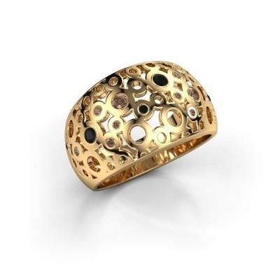 Ring Jaylinn 2 375 goud bruine diamant 0.295 crt