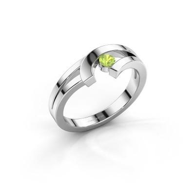 Ring Yentl 925 zilver peridoot 3 mm
