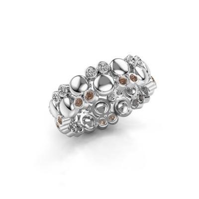 Foto van Ring Joanne 925 zilver bruine diamant 0.336 crt