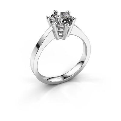 Engagement ring Noortje 950 platinum diamond 1.00 crt
