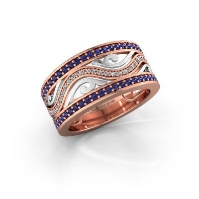Ring Louvenia 585 rosé goud saffier 1.2 mm