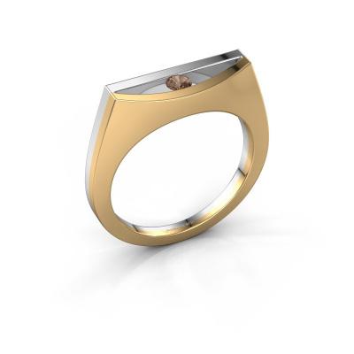 Ring Milou 585 gold brown diamond 0.10 crt