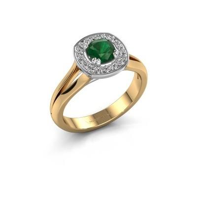 Foto van Ring Carolina 1 585 goud smaragd 5 mm