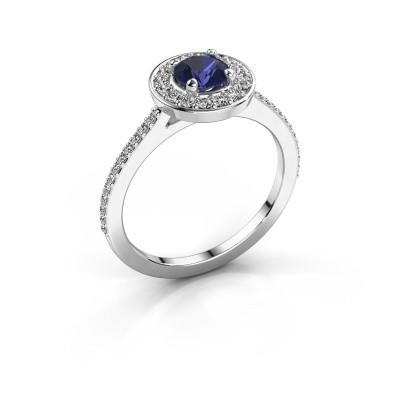 Foto van Ring Agaat 2 925 zilver saffier 5 mm