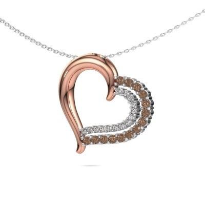 Necklace Kandace 585 rose gold brown diamond 0.56 crt