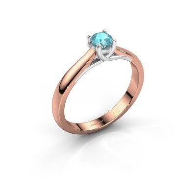 Picture of Engagement ring Mia 1 585 rose gold blue topaz 4 mm