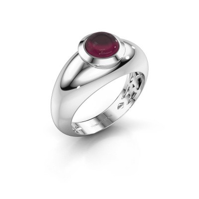 Ring Sharika 585 witgoud rhodoliet 6 mm
