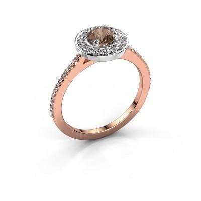 Ring Agaat 2 585 rose gold brown diamond 0.78 crt