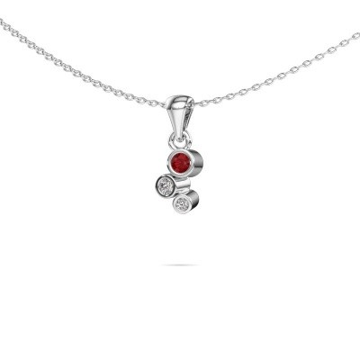 Picture of Pendant Tessa 925 silver ruby 2.5 mm