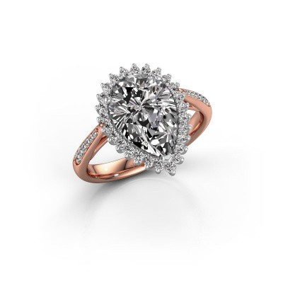 Foto van Verlovingsring Chere 2 585 rosé goud diamant 3.00 crt