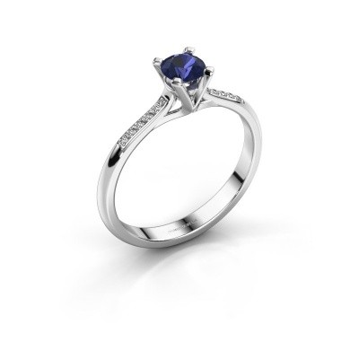 Picture of Engagement ring Isa 2 925 silver sapphire 4.2 mm