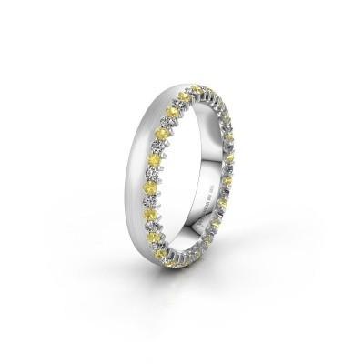Wedding ring WH2138L24B 925 silver yellow sapphire ±4x2 mm